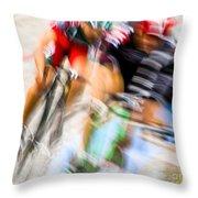 Bike Race I Throw Pillow