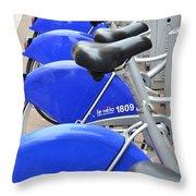 Bike Rental In Marseille Throw Pillow