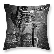 Bike Ride Friend  Throw Pillow