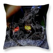 Bike Rider - Canada To Charleston To New Orleans Throw Pillow