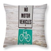 Bike Route Throw Pillow
