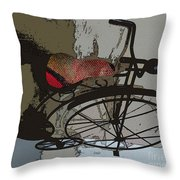 Bike Seat View Throw Pillow