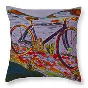 Bike Study Throw Pillow