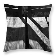 Bike Trail Bridge Bw Throw Pillow