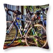 Bike Trek Throw Pillow