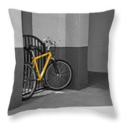 Bike With Frame Throw Pillow