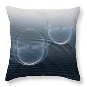 Biker Bubbles Throw Pillow