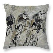 Bikes In The Rain Throw Pillow