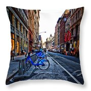 Bikes In The Snow Throw Pillow