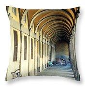 Bikes Under The Porch Throw Pillow
