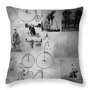 Bikezz Throw Pillow