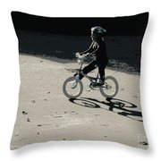 Bikin' Throw Pillow