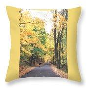 Biking In Bucks County Throw Pillow
