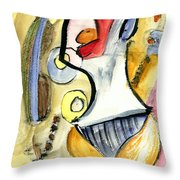 Bikini Beach Throw Pillow
