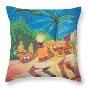 Bikutsi Dance 2 From Cameroon Throw Pillow