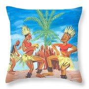 Bikutsi Dance 3 From Cameroon Throw Pillow