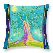 Bilabo Tree  Throw Pillow