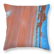 Bilateral Blue Throw Pillow