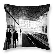 Bilbao Train Station Throw Pillow