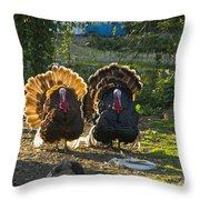 Bill And George Throw Pillow