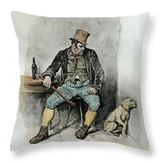 Bill Sykes And His Dog, From Charles Throw Pillow