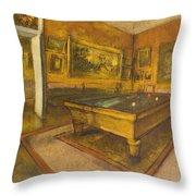 Billiard Room At Menil-hubert Throw Pillow