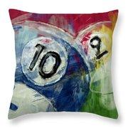 Billiards 10 And 9 Throw Pillow