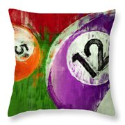 Billiards Abstract 5 12 Throw Pillow