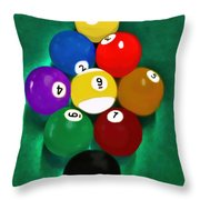 Billiards Art - Your Break 1 Throw Pillow