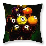 Billiards Art - Your Break 6 Throw Pillow