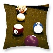 Billiards Art - Your Break -art 8 Throw Pillow