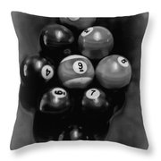 Billiards Art - Your Break - Bw  Throw Pillow