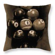Billiards Art - Your Break - Bw Opal Throw Pillow