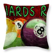 Billiards Room Abstract  Throw Pillow