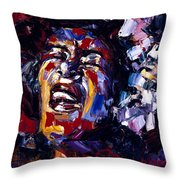 Billie Holiday Jazz Faces Series Throw Pillow