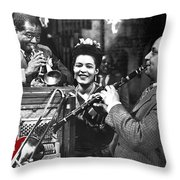 Billie Holiday Louis Armstrong Barney Bigard  New Orleans Set 1947-2010  Throw Pillow
