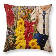 Billies Garden Throw Pillow