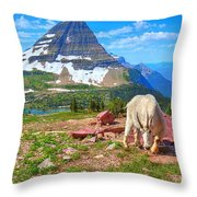 Billy Bearhat Throw Pillow