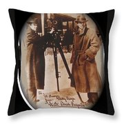 Billy Bitzer D.w. Griffith Pathe Camera Way Down East 1920-2013 Throw Pillow