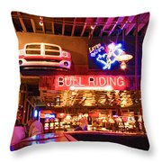Billy Bobs - Forth Worth Throw Pillow