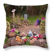 Billy Clanton And Frank Mclaury Throw Pillow
