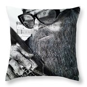 Billy Gibbons Throw Pillow