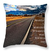 Billy Graham Quote Guidance Throw Pillow