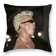Billy Idol Throw Pillow