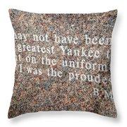 Billy Martin Throw Pillow