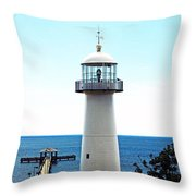 Biloxi Lighthouse 4 Throw Pillow