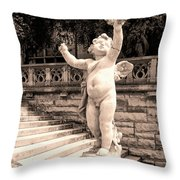Biltmore Cherub Asheville Nc Throw Pillow by William Dey
