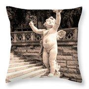 Biltmore Cherub Asheville Nc Throw Pillow