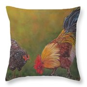 Biltmore Chickens  Throw Pillow