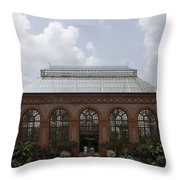 Biltmore Estate Conservatory Walled Garden Throw Pillow